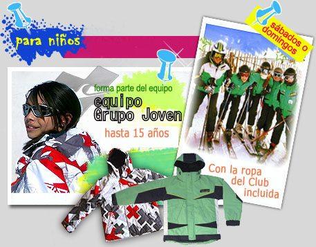 Cursos de esquí para niños | Cursos de snowboard para niños | Ropa Gratis