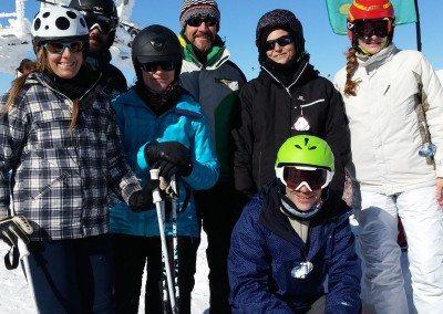 Clases de esquí para adultos en Valdesquí