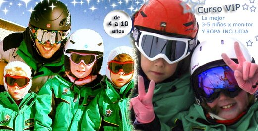 Clases de esquí en Valdesquí | Curso niños VIP | Club Grupo Joven Madrid