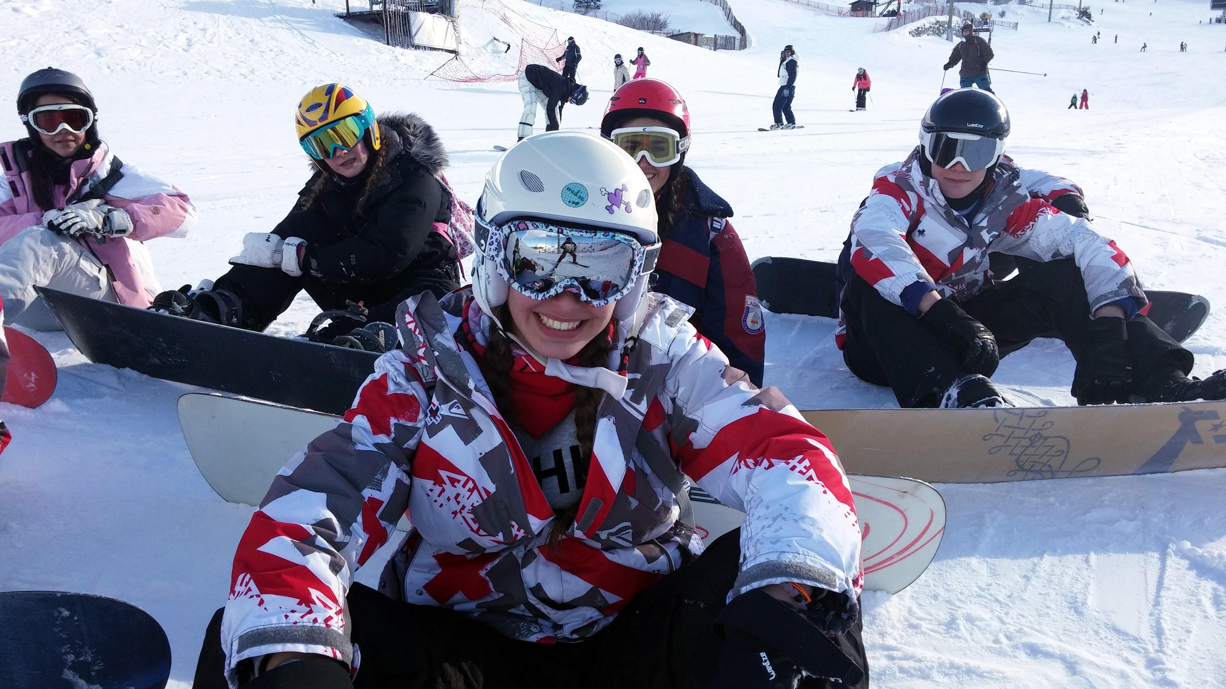 Cursos de snowboard para niños