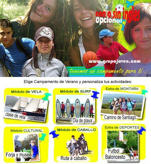 Campamentos con Inglés o sin inglés