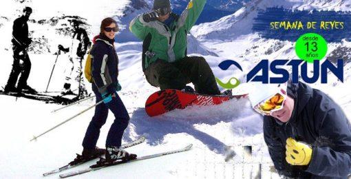 Viaje Astún Semana Reyes esqui snowboard grupo joven