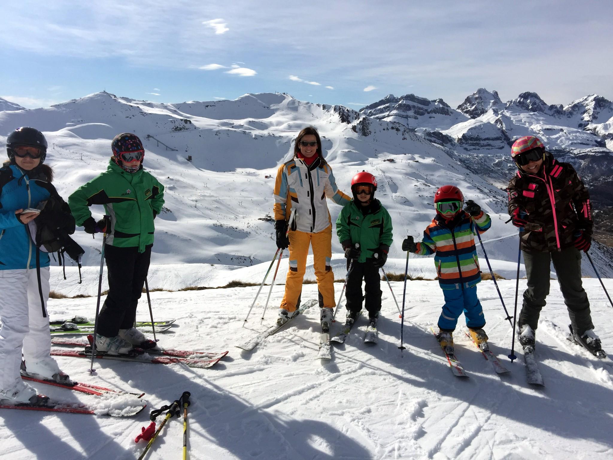 Viajes de esquí para familias
