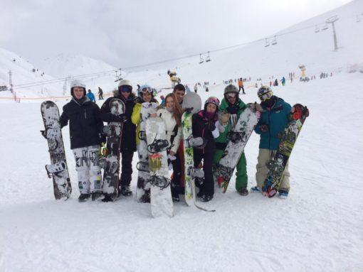 Viaje de esquí a Astún snowboard