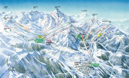 VIAJES DE ESQUÍ A CERLER | Ofertas de viajes de esquí al Pirineo Aragonés MAPA