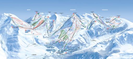VIAJES DE ESQUÍ A BAQUEIRA | Ofertas de viajes de esquí al Pirineo Catalán MAPA