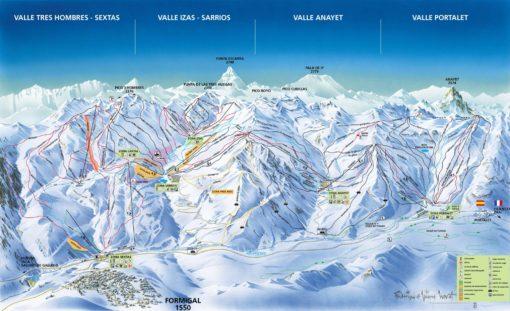 VIAJES DE ESQUÍ A FORMIGAL | Ofertas de viajes de esquí al Pirineo Aragonés MAPA
