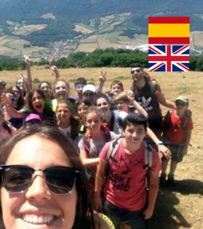 Campamento de Verano con inglés para niños en España Navarra multiaventura montaña y agua niños y adolescentes