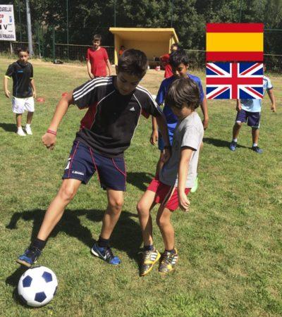 Campamento de Verano con Inglés y Fútbol en España León para niños adolescentes jóvenes