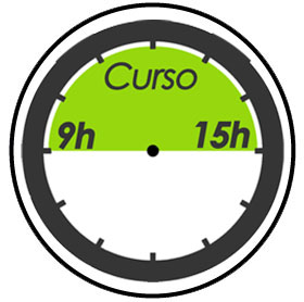Horario del curso 9 a 15h